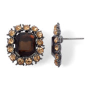 Monet® Hematite & Bronze-Tone Button Earrings