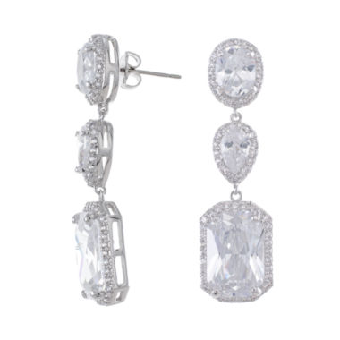 jcpenney.com | CZ by Kenneth Jay Lane 3-Stone Drop Earrings