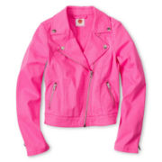Total Girl® Pretty-in-Pink Moto Jacket - Girls 6-16