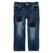 Arizona Patch Jeans - Girls 12m-6y