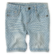Arizona Starry Denim Bermuda Shorts - Girls 12m-6y