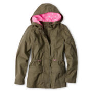Arizona Hooded Twill Jacket - Girls 6-16