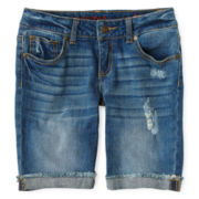 Arizona Denim Bermuda Shorts - Girls 6-16, Slim and Plus