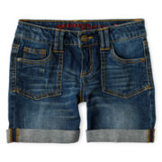 Arizona Denim Midi Shorts - Girls 6-16, Slim and Plus