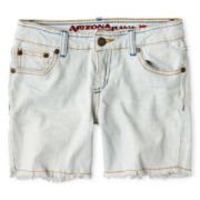 Arizona Bleached Denim Midi Shorts - Girls 6-16, Slim and Plus