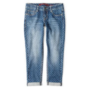 Arizona Dotty Cropped Jeans - Girls 6-16 and Plus