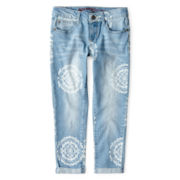 Arizona Medallion Cropped Jeans - Girls 6-16 and Plus