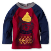 Joe Fresh™ Graphic Raglan Top - Boys 3m-24m