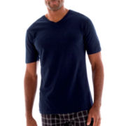 Stafford® Color V-Neck Cotton T-Shirt–Big & Tall