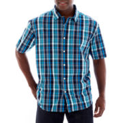 Claiborne Patterned Woven Shirt-Big & Tall