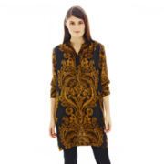Joe Fresh™ Print Mandarin-Collar Tunic