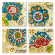 Paisley Set of 4 Square Plates