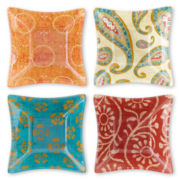 Paisley Set of 4 Square Bowls