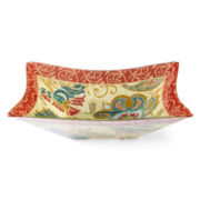 Paisley Square Serving Bowl