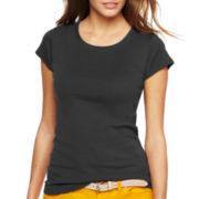 jcp™ Spring Short-Sleeve Crewneck Tee - Tall
