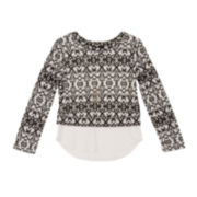 by&by Girl Long-Sleeve Textured Top - Girls 7-16