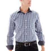 TailorByrd Long-Sleeve Plaid Woven Shirt
