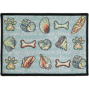 PB Paws by Park B. Smith® Seashore Dogs Tapestry Pet Mat