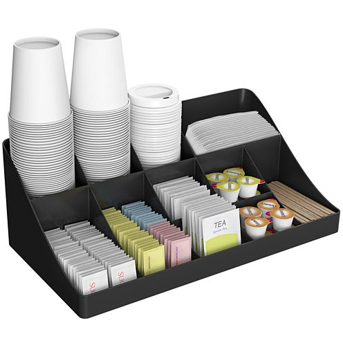 Mind Reader 13-Compartment Breakroom Coffee Condiment Organizer