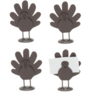 Set of 4 Thanksgiving Turkey Place Card Holders
