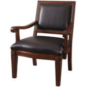 Glen Leather Upholstered Accent Chair