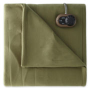 Sunbeam® Quilted Fleece Heated Blanket