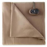 Sunbeam® Quilted Fleece Heated Blanket