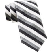 JF J. Ferrar® Call Me Stripey Tie and Tie Bar Set - Slim