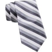 JF J Ferrar® Call Me Stripey Tie and Tie Bar Set - Slim