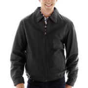 Excelled® Nappa Leather Self-Elastic Bomber Jacket