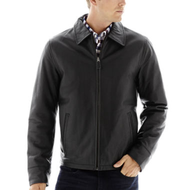 jcpenney.com | Excelled® Nappa Leather Open-Bottom Jacket