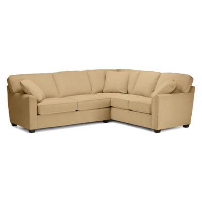 Fabric Possibilities Sharkfin-Arm 2-pc Left-Arm Sleeper Sofa Sectional