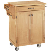 Somerville Rolling Kitchen Cart with Towel Rack