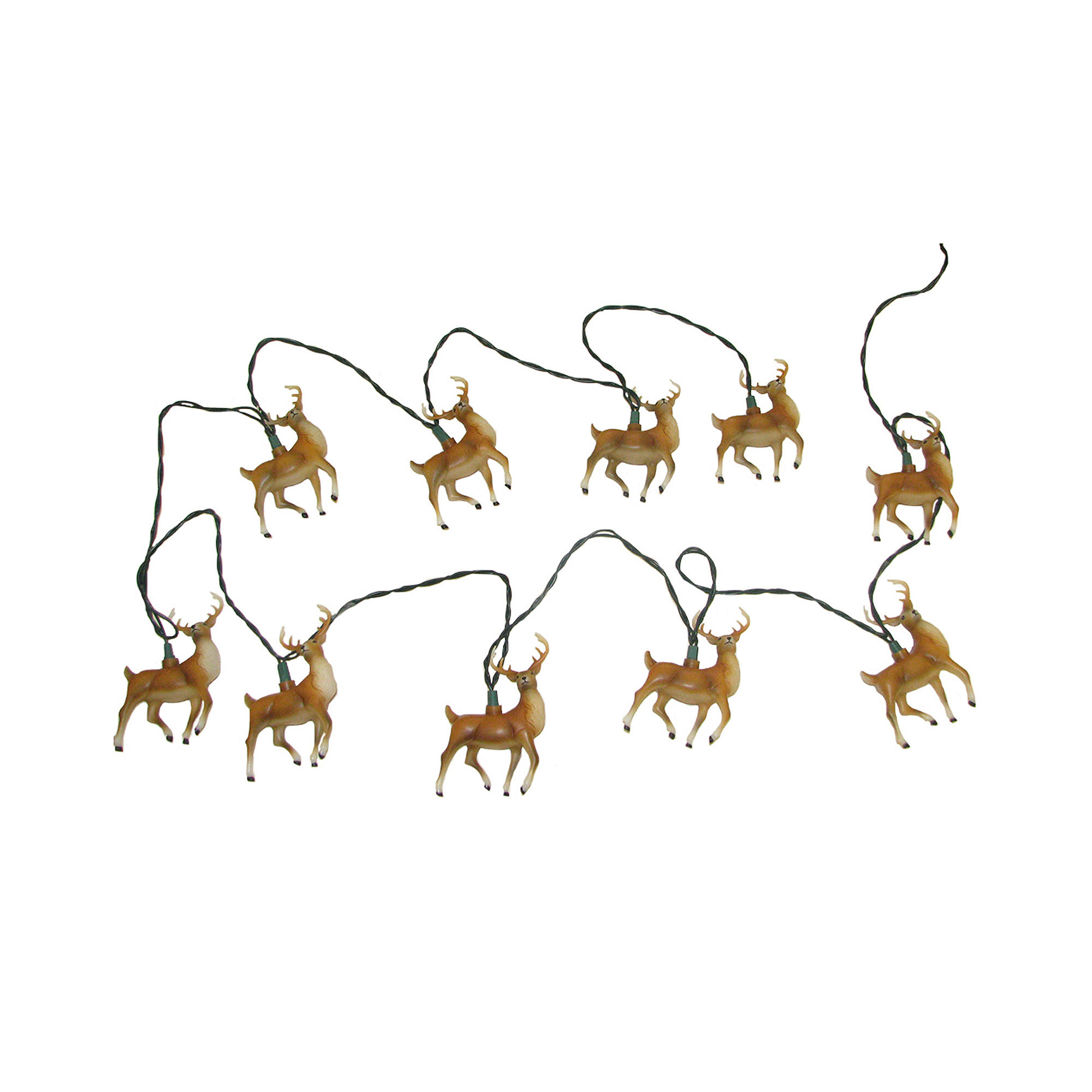 UPC 086131265549 product image for Kurt Adler 10-Light Plastic Reindeer Light Set | upcitemdb.com