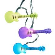 Kurt Adler 10-Light Injection Mold Guitar Light Set