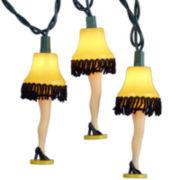 Kurt Adler 10-Lights Christmas Story Leg Lamp Light Set