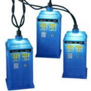 Kurt Adler 10-Light Doctor Who Blue Tardis Light Set
