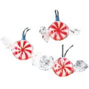 Kurt Adler 10-Light Red Peppermint Candy Light Set