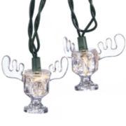 Kurt Adler UL 10-Light National Lampoon Christmas Vacation Wally World Moose Mug Light Set