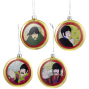 Kurt Adler Yellow Submarine Shatterproof Disc Ornament, 4-piece Set