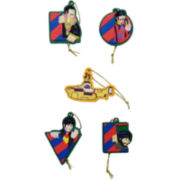 Kurt Adler 5-Pack Beatles with Yellow Submarine Mini Ornament Set