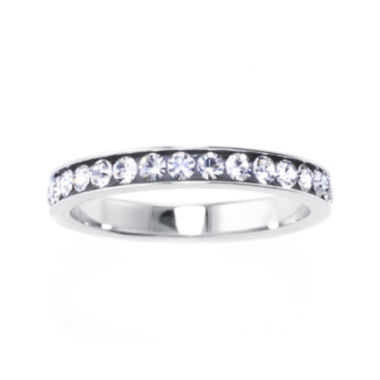 jcpenney.com | Crystal Sterling Silver Band Ring