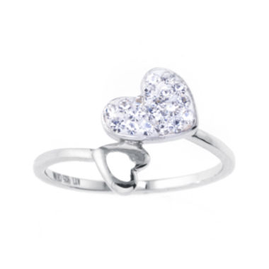 jcpenney.com | Crystal Heart Sterling Silver Ring