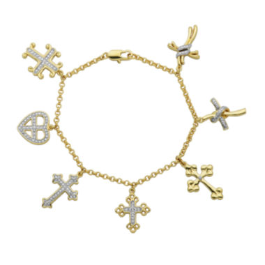 jcpenney.com | Classic Treasures™ Diamond-Accent Cross Charm Bracelet