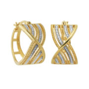 Classic Treasures™ Diamond-Accent Wide Hoop Earrings