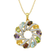 Classic Treasures™ Multicolor Gemstone Pendant Necklace