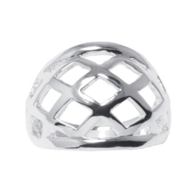 jcpenney.com | Silver-Plated Brass Lattice Dome Ring