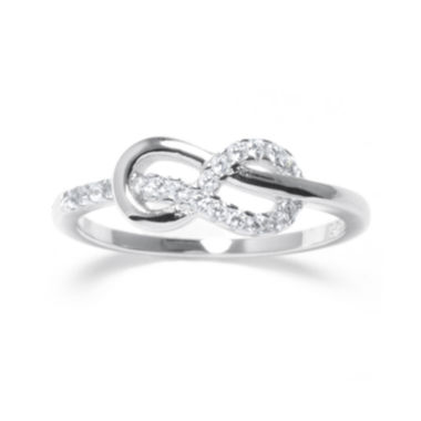 jcpenney.com | Crystal Sterling Silver Infinity Ring