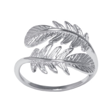 jcpenney.com | Sterling Silver Leaf Bypass Ring
