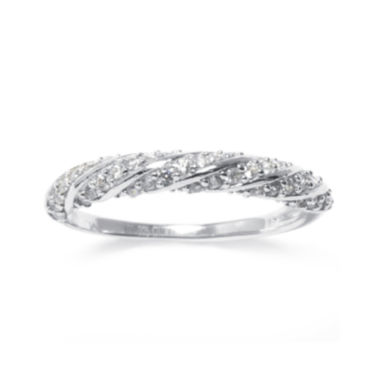 jcpenney.com | Cubic Zirconia Pavé Sterling Silver Rope Ring
